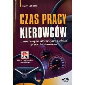 Książka - Czas pracy kierowców z wzorcowymi informacjami.